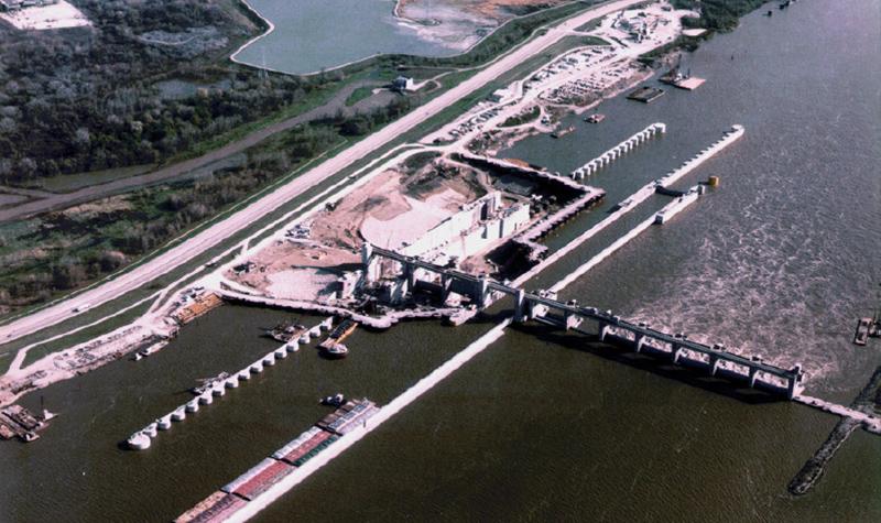 1970s Lock and Dam